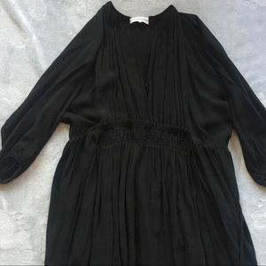 Apiece Apart wabi silk black dress size 2